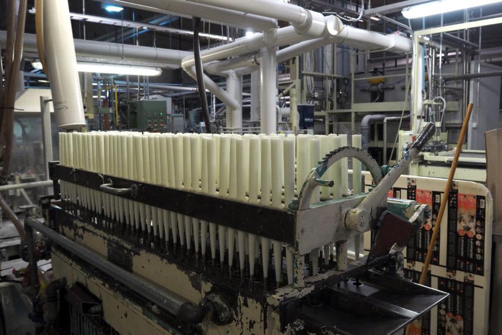 Kynttilöiden valmistusta Havin tehtaalla Riihimäellä.